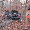 Manorville F D  Car into Woods  Schultz Rd 1-17-12-4