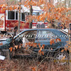 Manorville F D  Car into Woods  Schultz Rd 1-17-12-9