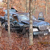 Manorville F D  Car into Woods  Schultz Rd 1-17-12-6