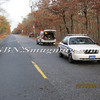 Manorville F D  Car into Woods  Schultz Rd 1-17-12-2