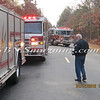 Manorville F D  Car into Woods  Schultz Rd 1-17-12-14