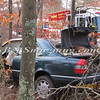 Manorville F D  Car into Woods  Schultz Rd 1-17-12-10