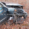 Manorville F D  Car into Woods  Schultz Rd 1-17-12-11