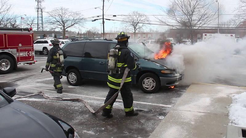 North Lindenhurst F D  Vehicle Fire 150 E  Sunrise Hwy  2-23-15
