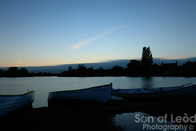 A calm sunset at Thorpeness