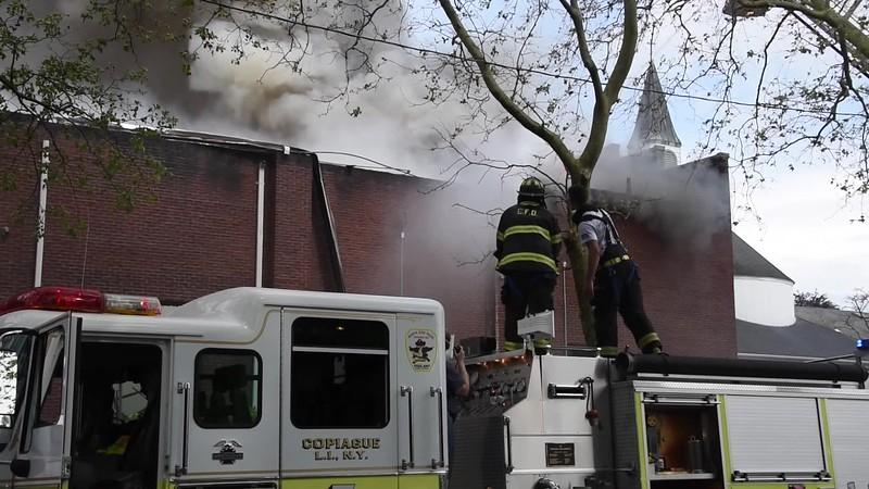 Copiague Church Fire