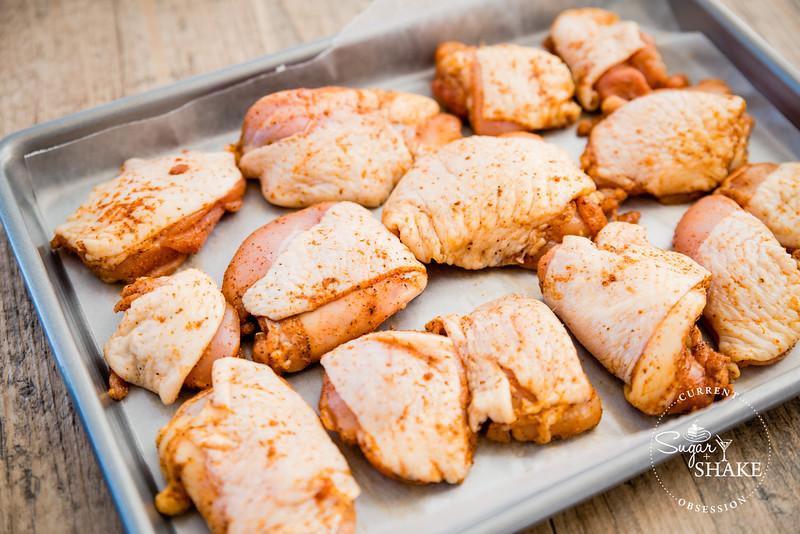 Making chicken using the Williams-Sonoma City Grit Fried Chicken Kit. © 2015 Sugar + Shake