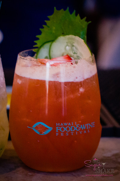 Chandra Lucariello's Pimm's Cup for the Hawaii Food & Wine Festival Under the Modern Moon event. © 2013 Sugar + Shake