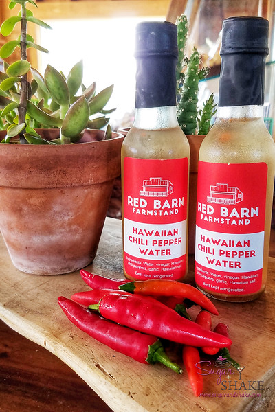 Red Barn Farmstand Chili Pepper Water.  © 2018 Sugar + Shake