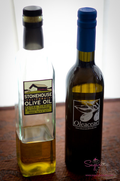 "Two blood orange olives oils: Stonehouse (OK, good for making <a href=""http://sugarandshake.com/blood-orange-olive-oil-ice-cream"">Blood Orange Olive Oil Ice Cream</a>) and Oleaceae (which we adore). © 2012 Sugar + Shake"