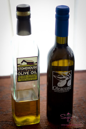 Two blood orange olives oils: Stonehouse (OK, good for making Blood Orange Olive Oil Ice Cream) and Oleaceae (which we adore). © 2012 Sugar + Shake