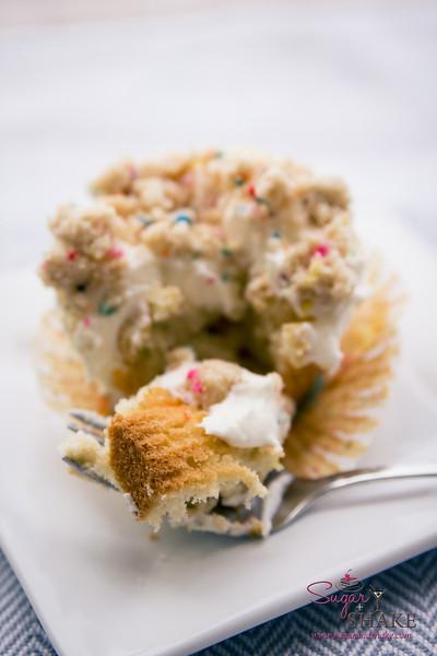 Momofuku Birthday Cake-inspired cupcakes. © 2014 Sugar + Shake