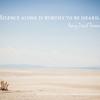 """Silence alone is worthy to be heard."" — Henry David Thoreau | © 2014 Sugar + Shake"
