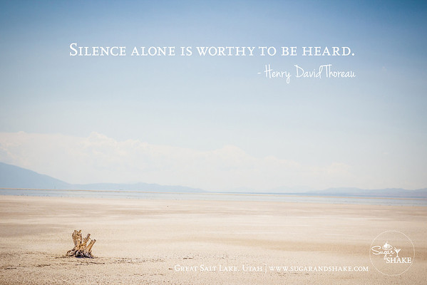 """Silence alone is worthy to be heard."" — Henry David Thoreau 