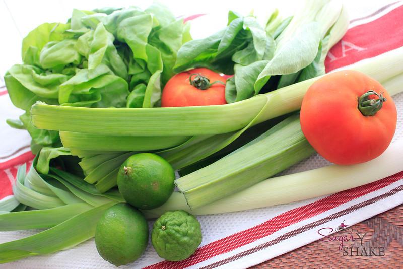 Fresh veg from a CSA box. © Sugar + Shake