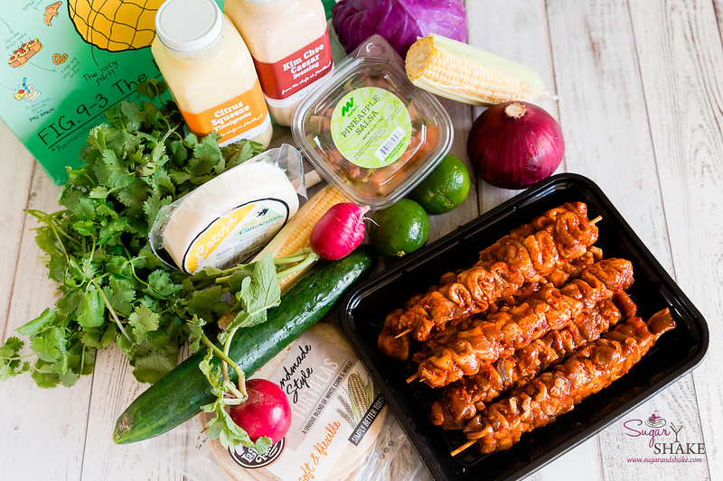 Ingredients for Fusion Street Tacos and Elote-Inspired Salad, provided by Foodland Farms Ka Makana Aliʻi. © 2020 Sugar + Shake