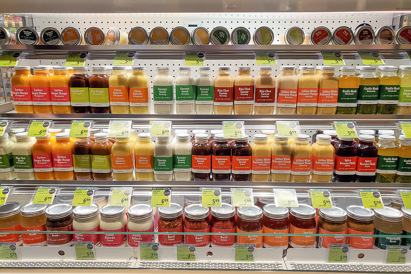 The vast array of Foodland Chef Essentials products at Foodland Farms Ka Makana Aliʻi. © 2020 Sugar + Shake