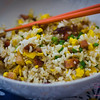 Chinese Roast Pork Fried Rice. © 2012 Sugar + Shake