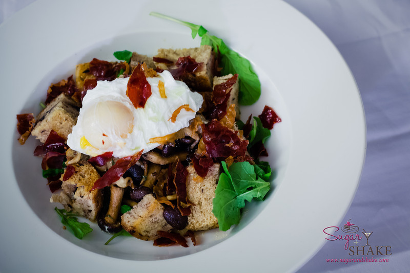 """Mushroom Ragout with Poached Egg. Adapted from """"Plenty"""" by Yotam Ottolenghi. © 2013 Sugar + Shake"""