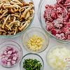 Ingredients for Mushroom & Beef Pot Pies. © 2013 Sugar + Shake