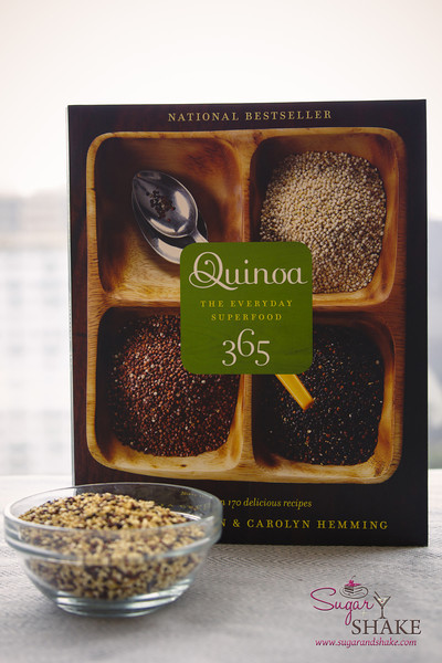 <i>Quinoa 365: The Everyday Superfood</i> by Patricia Green &amp; Carolyn Hemming. (2010, Whitecap Books; ISBN 978-1-55285-994-0) © 2014 Sugar + Shake