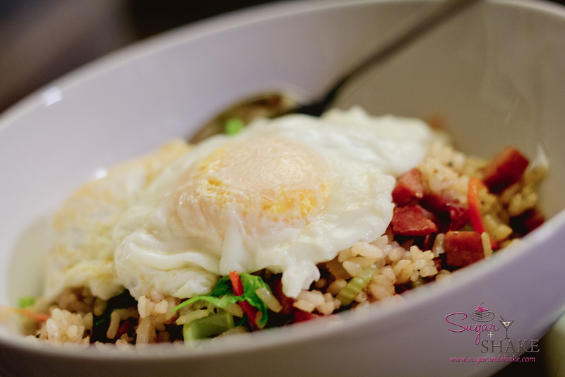 You can't have proper Hawaii-style fried rice without an egg! © 2012 Sugar + Shake