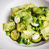 "Yotam Ottolenghi's Pasta & Fried Zucchini Salad from <i>Plenty: Vibrant Recipes from London's Ottolenghi</i>. <a href=""http://sugarandshake.com/cbtb-fried-zucchini-pasta/"">Read the blog</a>. © 2013 Sugar + Shake"