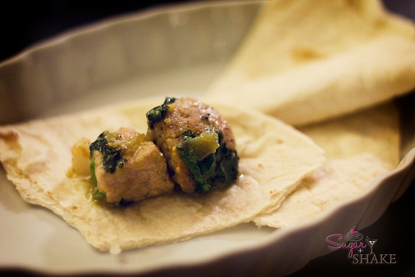 Chile verde on warm tortillas. © Sugar + Shake