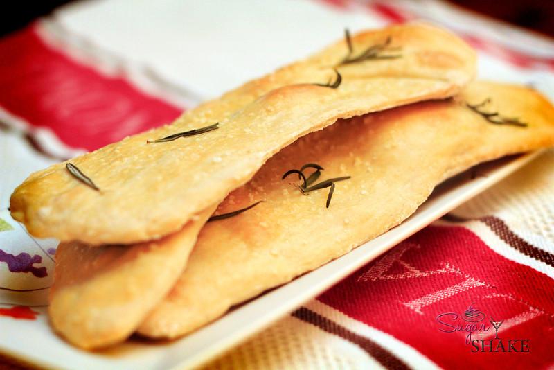 Herbed Flatbread from a <i>Martha Stewart</i> recipe. © Sugar + Shake
