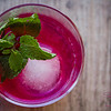 Lemon Verbena Blush cocktail Iteration #2. Now fully blushed. © 2014 Sugar + Shake