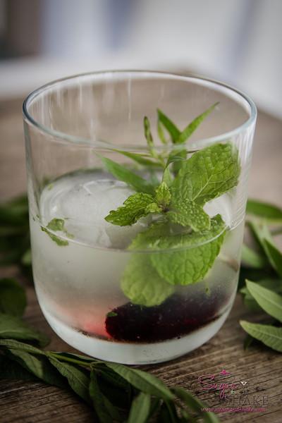 Lemon Verbena Blush cocktail Iteration #1. Before it had any blush to it. © 2014 Sugar + Shake