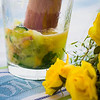 Freshly muddled fruits and vegetables. © 2013 Sugar + Shake