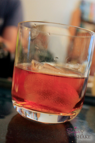 Vieux Carre by Shake. He follows the recipe in <i>Bitters: A Spirited History of a Classic Cure-All</i> with a few minor tweaks. © Sugar + Shake