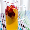 We got this pretty pitcher as a gift and hardly use it. Sangria in a glass pitcher is so lovely. © 2013 Sugar + Shake