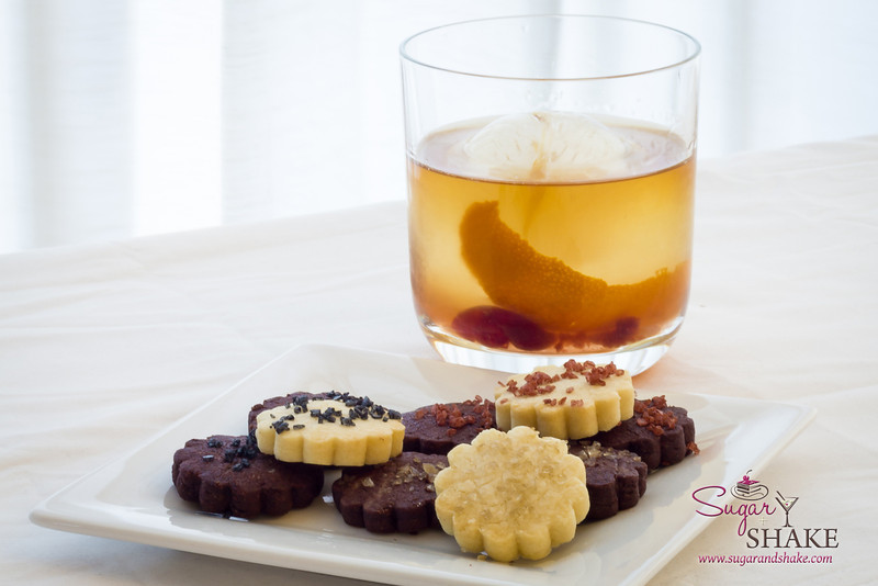 Bacon–Bourbon Old Fashioned and Salted Shortbread Cookies. © 2013 Sugar + Shake