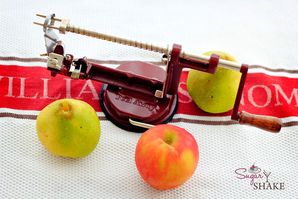 "It's an apple peeler/corer! As the Williams-Sonoma catalog says, ""There's nothing better or faster for peeling, slicing and coring apples than this old-fashioned tool."" © 2012 Sugar + Shake"