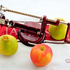 """It's an apple peeler/corer! As the <a href=""""http://www.williams-sonoma.com/products/old-fashioned-apple-peeler-and-corer/"""">Williams-Sonoma catalog</a> says, """"There's nothing better or faster for peeling, slicing and coring apples than this old-fashioned tool."""" © 2012 Sugar + Shake"""