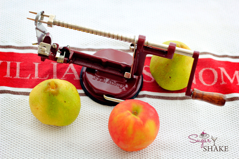 "It's an apple peeler/corer! As the <a href=""http://www.williams-sonoma.com/products/old-fashioned-apple-peeler-and-corer/"">Williams-Sonoma catalog</a> says, ""There's nothing better or faster for peeling, slicing and coring apples than this old-fashioned tool."" © 2012 Sugar + Shake"