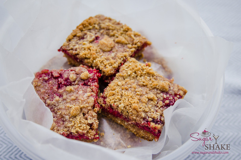 BAKED's Raspberry Crumb Breakfast Bars. © 2014 Sugar + Shake