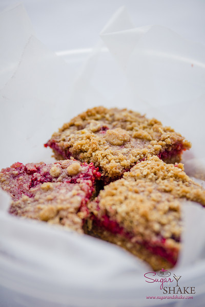 BAKED's Raspberry Crumb Breakfast Bars. © 2014 Sugar + Shake