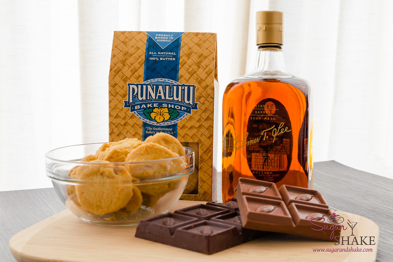 Ingredients for the Baked NYC Whiskey Chocolate Tart. © 2015 Sugar + Shake