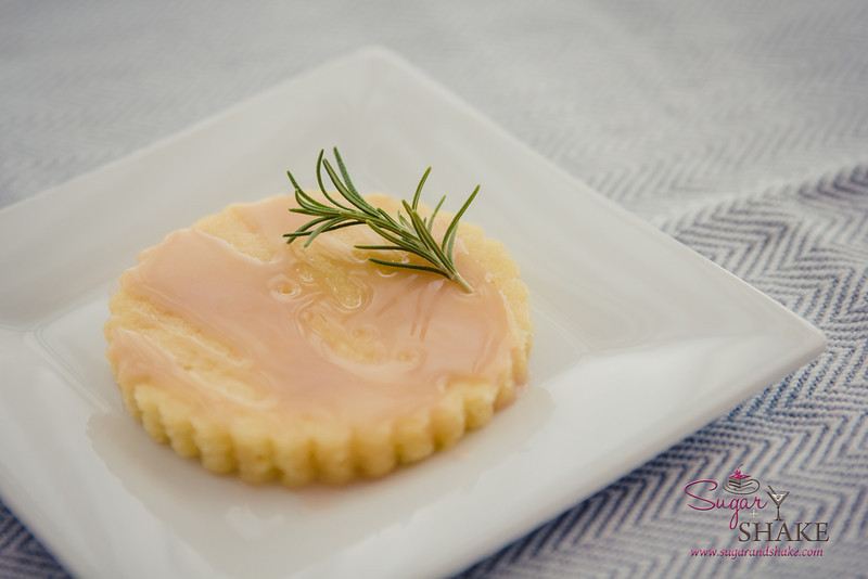 A more refined presentation. Blood Orange Olive Oil Cake topped with PAMA Liqueur Glaze. © 2014 Sugar + Shake