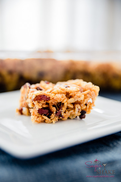 Bourbon Salted Caramel and Bacon–Cacao Nib Krispie Squares © 2015 Sugar + Shake