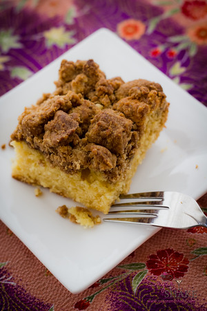 New York-Style Crumb Cake. Recipe from the Baked Explorations cookbook. © 2013 Sugar + Shake