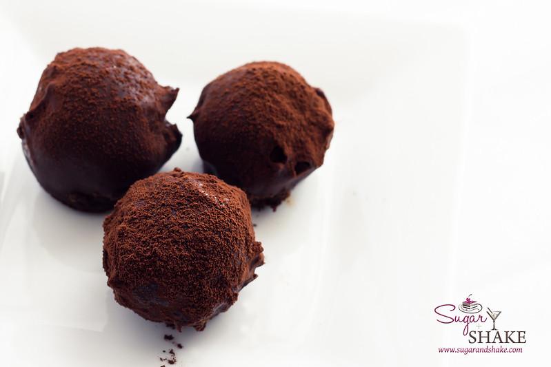 Chocolate Bourbon Smoked-Tea Cake Truffles. © 2013 Sugar + Shake