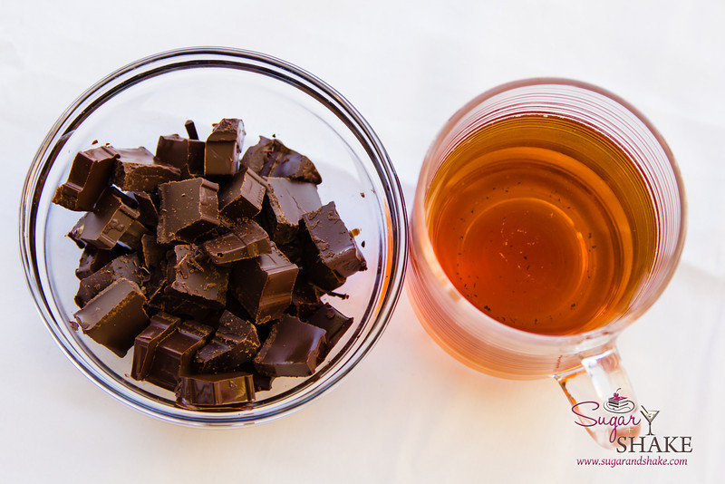 Chocolate and tea. Smoked tea brewed in bourbon, that is. © 2013 Sugar + Shake