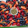 Ready for roasting — all-Maui products: strawberries, blueberries, raw cane sugar and lavender. © 2013 Sugar + Shake