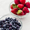 Fresh Maui-grown blueberries and strawberries from Kula Country Farms. © 2013 Sugar + Shake