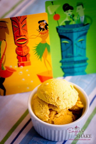 "Sugar's ""Deep Freeze Tiki"" ice cream: mango, brown sugar, orgeat and rum. © 2012 Sugar + Shake"