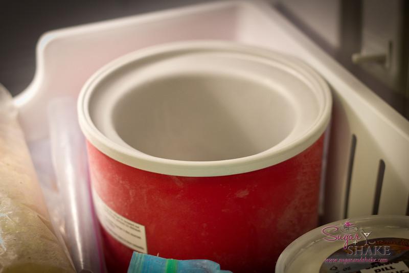 The machine's freezer bowl, chillin'. © 2012 Sugar + Shake
